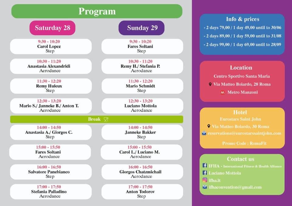 Programma RomaFit 2019